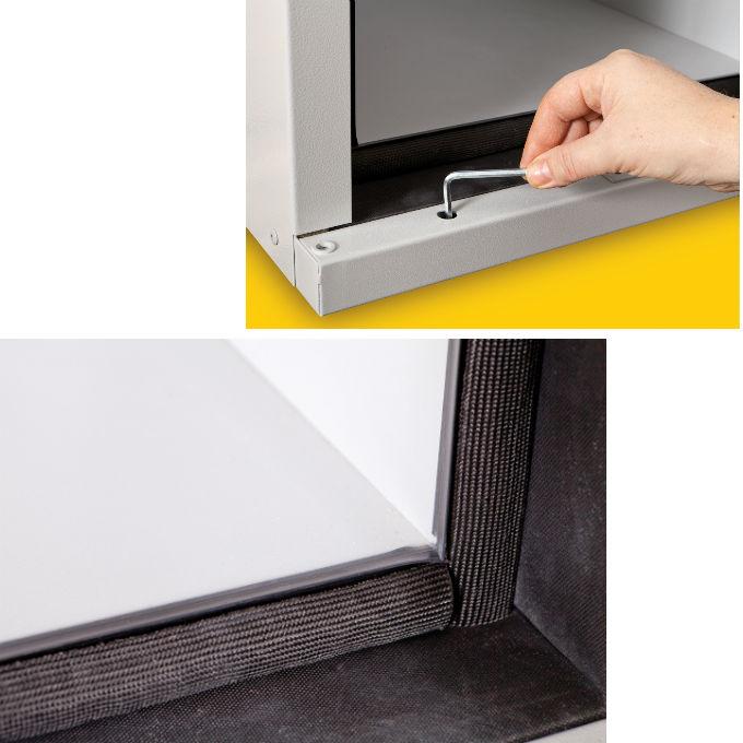 Mise à niveau de l'armoire et double système d'isolation