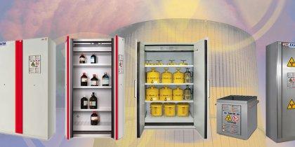 Armoires de stockage pour produits inflammables et radioactifs