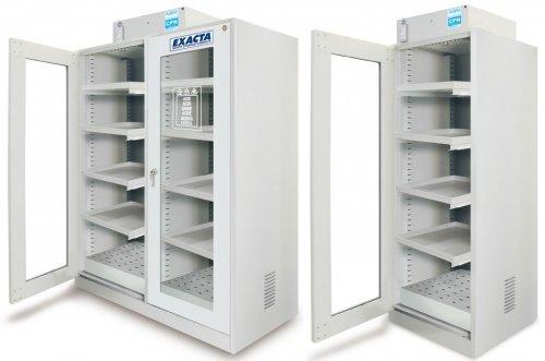 Série ECO F - Etagères coulissantes - Portes vitrées